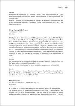 Bild der Seite - 481 - in Biografien bedeutender österreichischer Wissenschafterinnen - »Die Neugier treibt mich, Fragen zu stellen«