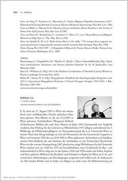 Bild der Seite - 494 - in Biografien bedeutender österreichischer Wissenschafterinnen - »Die Neugier treibt mich, Fragen zu stellen«