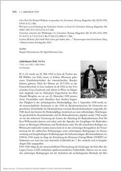 Bild der Seite - 540 - in Biografien bedeutender österreichischer Wissenschafterinnen - »Die Neugier treibt mich, Fragen zu stellen«