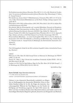 Bild der Seite - 853 - in Biografien bedeutender österreichischer Wissenschafterinnen - »Die Neugier treibt mich, Fragen zu stellen«