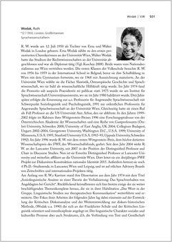 Bild der Seite - 931 - in Biografien bedeutender österreichischer Wissenschafterinnen - »Die Neugier treibt mich, Fragen zu stellen«