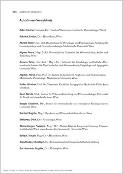 Bild der Seite - 986 - in Biografien bedeutender österreichischer Wissenschafterinnen - »Die Neugier treibt mich, Fragen zu stellen«