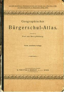 Bild der Seite - Einband vorne - in Geographischer Bürgerschul-Atlas