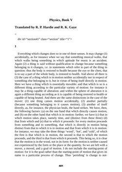 Bild der Seite - 481 - in The Complete Aristotle