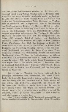 Bild der Seite - 219 - in Die nordöstliche Steiermark - Eine Wanderung durch vergessene Lande