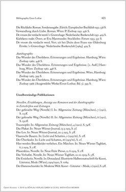 Bild der Seite - 421 - in Ernst Lothar - Schriftsteller, Kritiker, Theaterschaffender