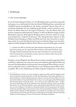 Bild der Seite - 13 - in Ethik und Moral im Wiener Kreis - Zur Geschichte eines engagierten Humanismus