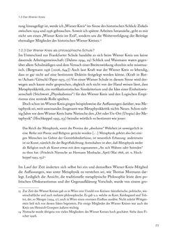 Bild der Seite - 23 - in Ethik und Moral im Wiener Kreis - Zur Geschichte eines engagierten Humanismus