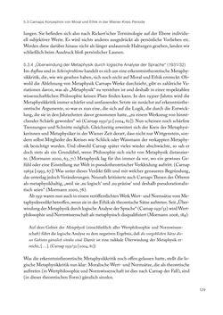 Bild der Seite - 129 - in Ethik und Moral im Wiener Kreis - Zur Geschichte eines engagierten Humanismus