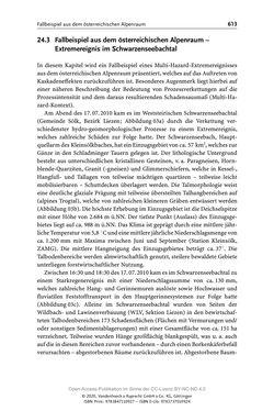 Bild der Seite - 613 - in ExtremA 2019 - Aktueller Wissensstand zu Extremereignissen alpiner Naturgefahren in Österreich