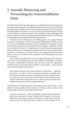"""Bild der Seite - 73 - in Die Frühgeschichte des Fulbright Program in Österreich - Transatlantische """"Fühlungnahme auf dem Gebiete der Erziehung"""""""