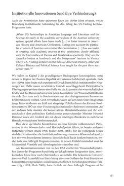 """Bild der Seite - 111 - in Die Frühgeschichte des Fulbright Program in Österreich - Transatlantische """"Fühlungnahme auf dem Gebiete der Erziehung"""""""