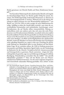 Image of the Page - 67 - in Germanistik in Wien - Das Seminar für Deutsche Philologie und seine Privatdozentinnen (1897–1933)