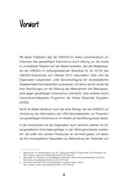 Image of the Page - 5 - in Lehrerhandbuch zur Prävention von Gewalttätigem Extremismus