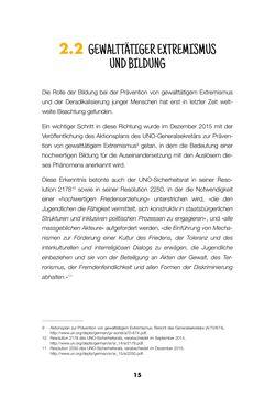 Image of the Page - 15 - in Lehrerhandbuch zur Prävention von Gewalttätigem Extremismus