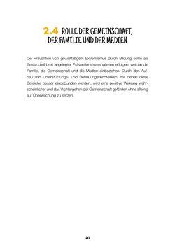Bild der Seite - 20 - in Lehrerhandbuch zur Prävention von Gewalttätigem Extremismus