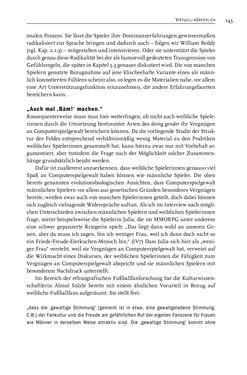 Image of the Page - 147 - in Gewalt im Computerspiel - Facetten eines Vergnügens