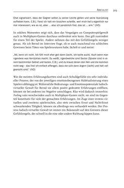 Image of the Page - 321 - in Gewalt im Computerspiel - Facetten eines Vergnügens