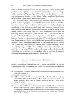 Bild der Seite - 62 - in Heimatrecht und Staatsbürgerschaft österreichischer Juden - Vom Ende des 18. Jahrhunderts bis in die Gegenwart