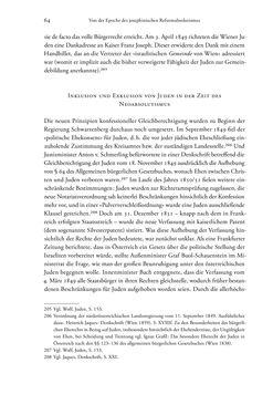 Bild der Seite - 64 - in Heimatrecht und Staatsbürgerschaft österreichischer Juden - Vom Ende des 18. Jahrhunderts bis in die Gegenwart