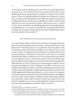 Bild der Seite - 70 - in Heimatrecht und Staatsbürgerschaft österreichischer Juden - Vom Ende des 18. Jahrhunderts bis in die Gegenwart