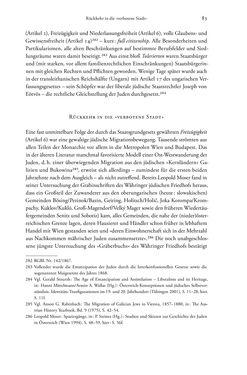 Bild der Seite - 83 - in Heimatrecht und Staatsbürgerschaft österreichischer Juden - Vom Ende des 18. Jahrhunderts bis in die Gegenwart