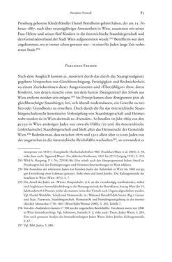 Bild der Seite - 85 - in Heimatrecht und Staatsbürgerschaft österreichischer Juden - Vom Ende des 18. Jahrhunderts bis in die Gegenwart