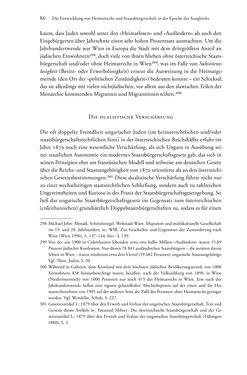 Bild der Seite - 86 - in Heimatrecht und Staatsbürgerschaft österreichischer Juden - Vom Ende des 18. Jahrhunderts bis in die Gegenwart