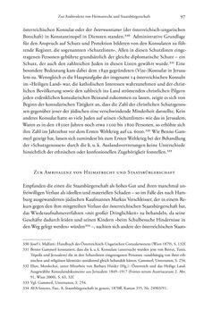 Bild der Seite - 97 - in Heimatrecht und Staatsbürgerschaft österreichischer Juden - Vom Ende des 18. Jahrhunderts bis in die Gegenwart