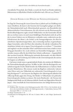 Bild der Seite - 109 - in Heimatrecht und Staatsbürgerschaft österreichischer Juden - Vom Ende des 18. Jahrhunderts bis in die Gegenwart