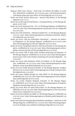 Bild der Seite - 299 - in Hip Hop aus Österreich - Lokale Aspekte einer globalen Kultur