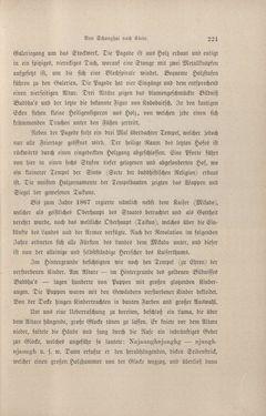 Bild der Seite - 221 - in Im fernen Osten - Reisen des Grafen Bela Szechenyi in Indien, Japan, China, Tibet und Birma in den Jahren 1877 - 1880