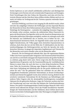 Bild der Seite - 64 - in Österreich-Ungarns imperiale Herausforderungen - Nationalismen und Rivalitäten im Habsburgerreich um 1900