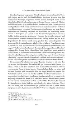Bild der Seite - 213 - in Josephinische Mandarine - Bürokratie und Beamte in Österreich