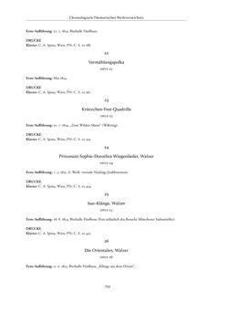 Bild der Seite - 743 - in Joseph Lanner - Chronologisch-thematisches Werkverzeichnis