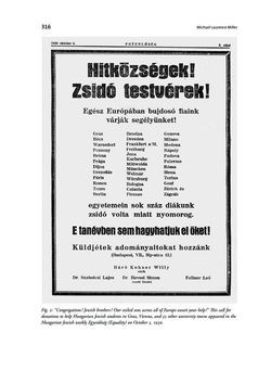 Bild der Seite - 316 - in Wien und die jüdische Erfahrung 1900-1938 - Akkulturation - Antisemitismus - Zionismus