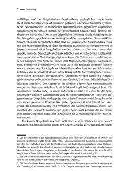 Bild der Seite - 2 - in Jugendkommunikation und Dialekt - Syntax gesprochener Sprache bei Jugendlichen in Osttirol