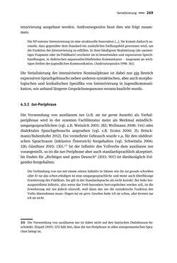 Bild der Seite - 269 - in Jugendkommunikation und Dialekt - Syntax gesprochener Sprache bei Jugendlichen in Osttirol