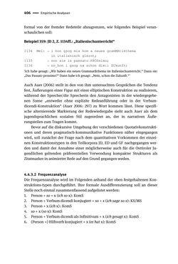 Bild der Seite - 406 - in Jugendkommunikation und Dialekt - Syntax gesprochener Sprache bei Jugendlichen in Osttirol