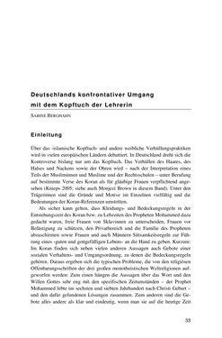 Image of the Page - 33 - in Der Stoff, aus dem Konflikte sind - Debatten um das Kopftuch in Deutschland, Österreich und der Schweiz