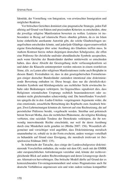 Bild der Seite - 170 - in Der Stoff, aus dem Konflikte sind - Debatten um das Kopftuch in Deutschland, Österreich und der Schweiz