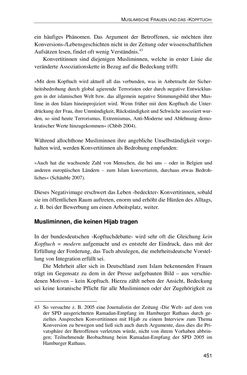 Image of the Page - 451 - in Der Stoff, aus dem Konflikte sind - Debatten um das Kopftuch in Deutschland, Österreich und der Schweiz