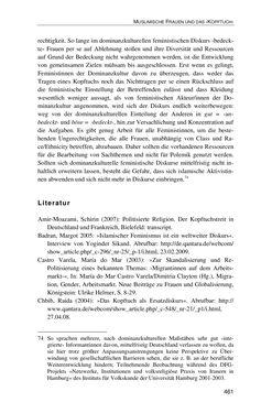 Bild der Seite - 461 - in Der Stoff, aus dem Konflikte sind - Debatten um das Kopftuch in Deutschland, Österreich und der Schweiz
