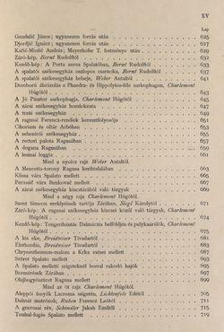 Bild der Seite - XV - in Az Osztrák-Magyar Monarchia írásban és képben - Az Osztrák Tengermellék és Dalmáczia (Tengermellék), Band 10
