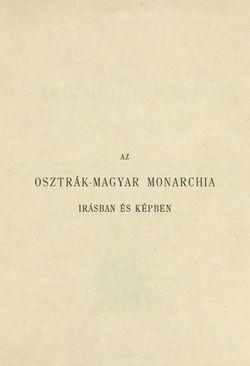 Bild der Seite - I - in Az Osztrák-Magyar Monarchia írásban és képben - Magyarország III (1), Band 12/1