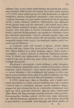 Image of the Page - 417 - in Az Osztrák-Magyar Monarchia írásban és képben - Magyarország III (2), Volume 12/2