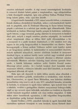 Image of the Page - 500 - in Az Osztrák-Magyar Monarchia írásban és képben - Tirol és Vorarlberg (2), Volume 13/2