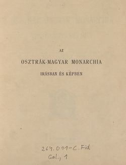 Bild der Seite - I - in Az Osztrák-Magyar Monarchia írásban és képben - Galiczia (1), Band 19/1