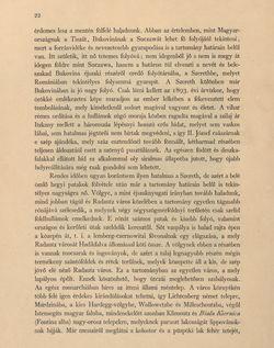 Image of the Page - 22 - in Az Osztrák-Magyar Monarchia írásban és képben - Bukovina, Volume 20
