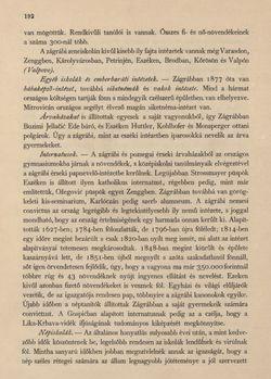 Bild der Seite - 192 - in Az Osztrák-Magyar Monarchia írásban és képben - Horvát-Szlavonország (1), Band 24/1